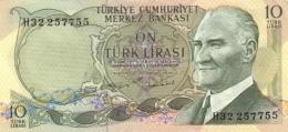 TURKEY 10 TURK LIRASI L.1970 (1975) P-186a UNC SIGN. 22 [TR263c] - Turkey