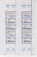 TAAF 1981 Antares / Ship 1v Sheetlet  (unfolded)  ** Mnh (TA131C) - Luchtpost