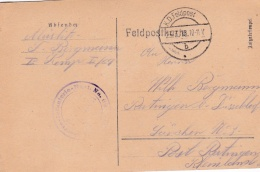 Feldpost WW1: Reserve Infanterie Regiment 69 P/m 23.3.1918 - Plain Postcard  (SKO8-3A) - Militaria