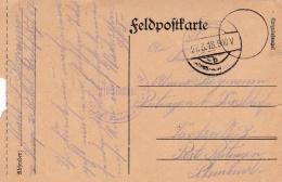 Feldpost WW1: Reserve Infanterie Regiment 69 P/m 27.3.1918 - Plain Postcard  (SKO8-3A) - Militaria