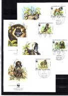 Pavian Dokumentation 1988 WWF-Set 67 Kamerun 1155/8 4x FDC 16€ Naturschutz Drill Fauna Wildlife Cover Of Cameroun AFRICA - Cameroon (1960-...)