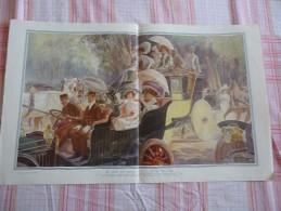 De 1911 - Automobiles - Le Jour Des Drags, Sur La Route D'Auteuil - - Advertising