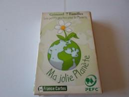 TRES BEAU JEU DE CARTES 7 FAMILLES  GRIMAUD  JEU ECOLOGIQUE     ******     A     SAISIR  ****** - Cartes à Jouer
