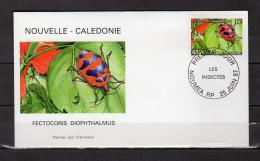 """Env. 1er Jour De 1997 """" INSECTE : FECTOCORIS DIOPHTHALMUS /  NOUMEA Le 25-06-1997 """" N° YT 732. Parf état. FDC - Insectes"""