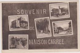 Cpa,afrique Du Nord,Algérie,ALGER Maison-carrée,5 Clichés Rare,hotel De Ville,pont Harrach,square Altairac,