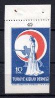 1946 TURKEY RED CRESCENT AID STAMP FISCAL MNH ** - 1921-... République
