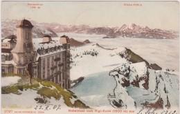 Cpa,suisse,helvetia  En 1907,Nebelmeer Vom Rigi-kulm 1800m ,hiver Rude,neige,édition Photoglob Zurich - Suisse