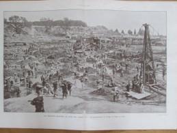 1910 égypte LE CAIRE   Construction Du Barrage  Du DELTA  Grande Photo - Vieux Papiers