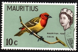 Mauritius Fody Colin Fine Used Stamp - Songbirds & Tree Dwellers