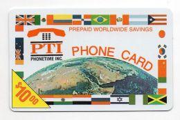 37362 - Ricarica Telefonica - Telefono Cellulare - Telephone - Phone Card Pti Phonetime Inc - Andere - Amerika