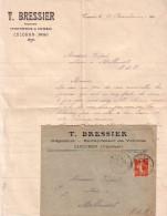 VAUCLUSE - CUCURON - T.BRESSIER NEGOCIANT ENTREPRENEUR DE VOITURES - AVEC ENVELOPPE ENTETE DE CADENET EN 1911. - Cars