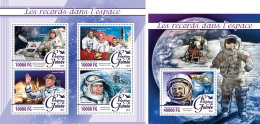 GUINEA REP. 2016 ** Records In Space Raumfahrt M/S+S/S - OFFICIAL ISSUE - A1623 - Space