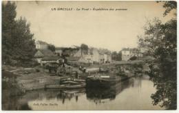 CPA - 56 - Morbihan - La Gacilly - Le Pont - Expédition Des Pommes - Charette, Péniche – Animée - La Gacilly