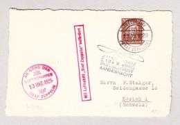DR Luftpost 13.10.1929 Luftschiff Graf Zeppelin Karte Nach Zürich Mit Stempel Amsterdam Mit Luchtpost Aangebracht - Poste Aérienne