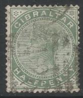 Gibraltar. 1898 QV. ½d Used. SG39 - Gibraltar