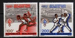 Madagascar P.A. N° 119 / 20  XX Jeux Olympiques De Munich :   Les 2 Valeurs Sans Charnière, TB - Madagascar (1960-...)