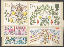 Great Britain 1980 Christmas 5v 5 Maxicards (31236)) - Maximumkaarten