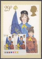 Great Britain 1982 Youth Organisations Girl Guides And Brownies 29p Value Pair Traffic Lights Maxicard (31237) - Maximumkaarten