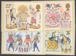 Great Britain 1981 Folklore / Europa Cept  4v 4 Maxicards (31238) - Maximumkaarten