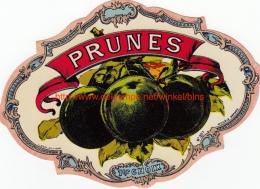 Etiquette Prunes - Fruits & Vegetables