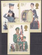 Great Britain 1982 Youth Organisations 3v 3 Maxicards (wrinkle In Corner Card) (31239) - Maximumkaarten