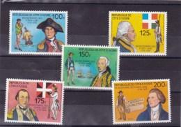 COTE D'IVOIRE : Bicentenaire De L'indépendance Des EU : Y&T : ** : 409 à 413 - Côte D'Ivoire (1960-...)