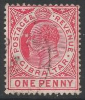 Gibraltar. 1906-12 KEVII. New Colours. 1d Used. SG77 - Gibraltar