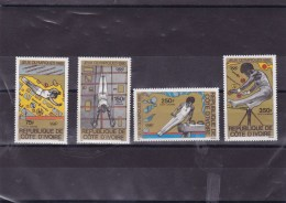 COTE D´IVOIRE : Gymnastique : Y&T : ** : 71 à 74 PA - Côte D'Ivoire (1960-...)