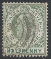 Gibraltar. 1904-1908 KEVII. ½d Used. Mult Crown CA W/M SG56 - Gibraltar