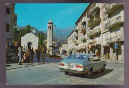 RECOARO TERME , VICENZA , PIAZZA DOLOMITI , ANIMATA , AUTO ,  VIAGGIATA 1979 - Vicenza