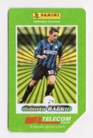 37369 - Ricarica Telefonica - Telefono Cellulare - Telephone - Phone Card - Roberto Baggio Panini Calcio Soccer Inter - Schede Telefoniche