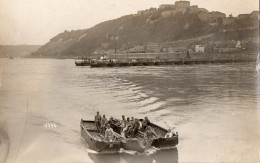 REGIMENT DU GENIE FRANCAIS TRAVERSANT LE RHIN Environ De  COBLENCE ?? TRES BELLE ET RARE PHOTO - 1923 - 1929 - Guerres - Autres