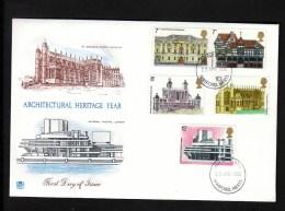 Großbritannien FDC 673-677 Denkmalschutzjahr - 1971-1980 Dezimalausgaben