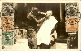 CHINE - Carte Photo D'un Barbier De Rue à Shanghaï - Rare - 1930 - A Voir - P20249 - Chine