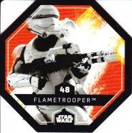 STAR WARS 2015 Vignette Jeton Image Carte LECLERC Disney Numéro 48 FLAMETROOPER - Episode I