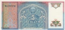 (B0261) UZBEKISTAN, 1994. 5 Sum. P-75. UNC - Usbekistan