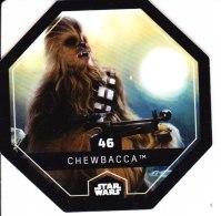 STAR WARS 2015 Vignette Jeton Image Carte LECLERC Disney Numéro 46 CHEBACCA - Episode I