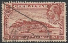 Gibraltar. 1931-33 KGV. 1½d Used. P14 SG111 - Gibraltar