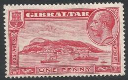 Gibraltar. 1931-33 KGV. 1d MH. P14 SG110 - Gibraltar