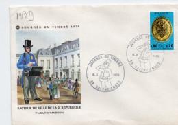 F. D. C. FRANCE - Journée Du Timbre 1975  Plaque De Facteur Sous La II République 59 Valmenciennes Y.T.  N° 1838 - 1970-1979