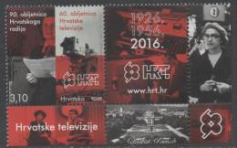 CROATIA , 2016, MNH, 90TH ANNIVERSARY OF CROATIAN TELEVISION AND RADIO,1v +TAB - Stamps