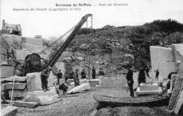 50 - SAINT-POIS - Bois De MONTJOIE - Carrière De Granit ( Legorgeux ) GRUE - ANIMATION - France