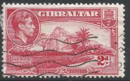 Gibraltar. 1938-51 KGVI. 2d Red Used. SG124c - Gibraltar