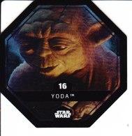STAR WARS 2015 Vignette Jeton Image Carte LECLERC Disney Numéro 16 YODA - Episode I