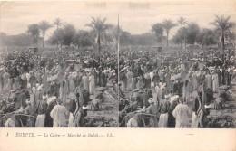 ¤¤  -   1   -   EGYPTE   -   LE CAIRE   -  Carte Stéréo Du Marché De Bulak       -  ¤¤ - Cairo