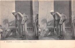 ¤¤  -   6   -   EGYPTE   -   LE CAIRE   -  Carte Stéréo   -  Porteur D'Eau      -  ¤¤ - Cairo