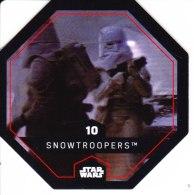 STAR WARS 2015 Vignette Jeton Image Carte LECLERC Disney Numéro 10 SNOWTROOPERS - Episode I