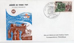 F. D. C. FRANCE - Journée Du Timbre 1969 Omnibus De Transport Des Facteurs  22 Lannion Y.T.  N° 1589 - 1960-1969