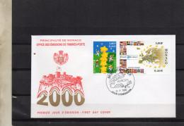8FDC MONACO     EUROPA   TIMBRE    N° YVERT ET TELLIER   22248/9  2000 - FDC