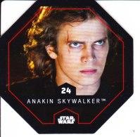STAR WARS 2015 Vignette Jeton Image Carte LECLERC Numéro 24 ANAKIN SKYWALKER - Episode I